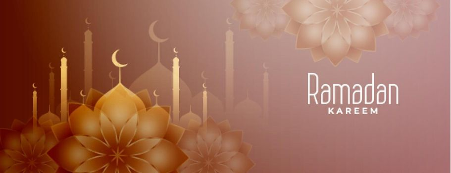ramadan month islamic decorative banner design