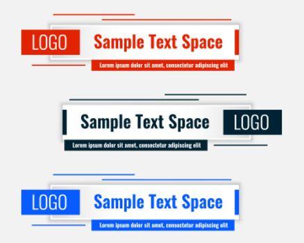 rectangular lower third modern template design