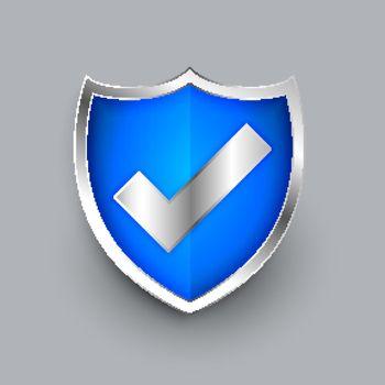shield icon with check mark symbol design