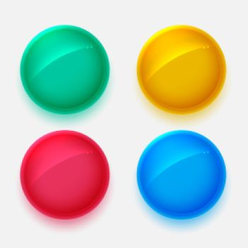 shiny circles buttons in four colors