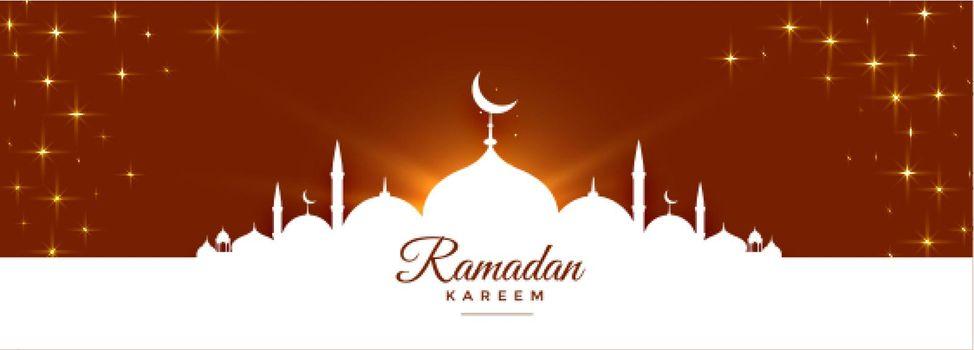 shiny ramadan kareem cultural festival banner design
