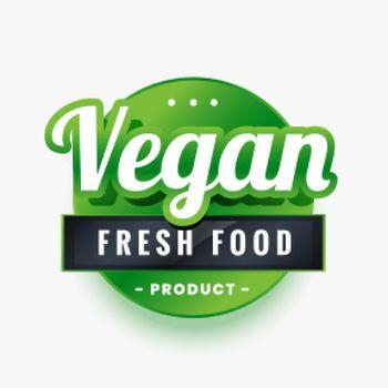 vegan only fresh food green label design