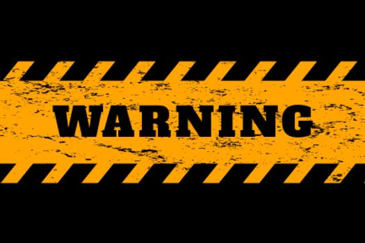 warning background in yellow and black colors