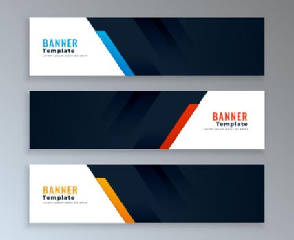 web banners template set with text space