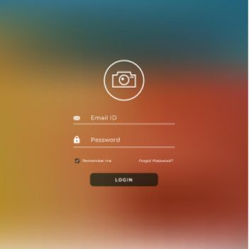 website landing page template with login form
