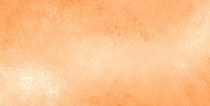 watercolor texture background in pastel orange color