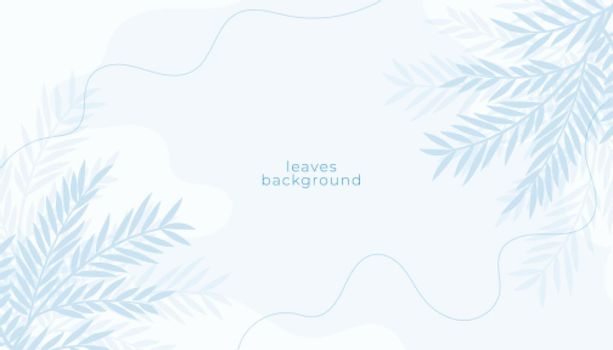 white background with leaves decoration