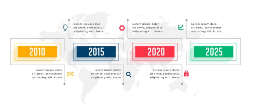 yearly business infographic timeline template design