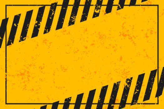 yellow warning background with black stripes