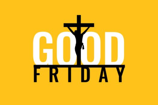 flat style good friday holy week poster design