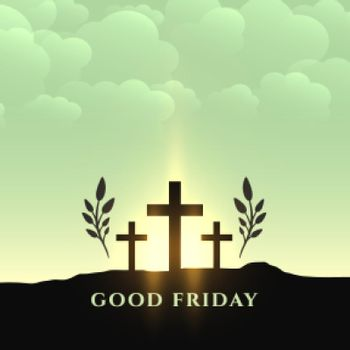 good friday holy week traditional background