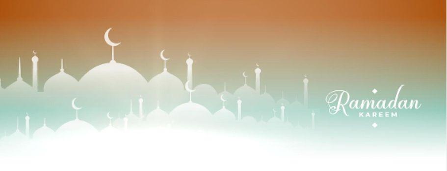 ramadan kareem mosque banner design