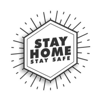 stay home and stay safe motivational poster