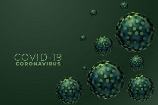 microscopic coronavirus infection outbreak with text space