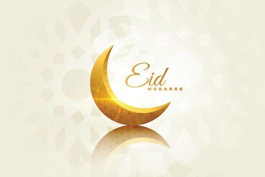 eid mubarak beautiful greeting with decorative moon