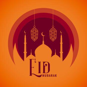 wishes card for eid mubarak festival greeting