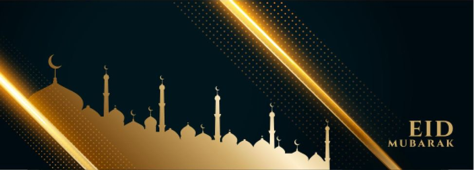 beautiful eid festival banner in islamic style