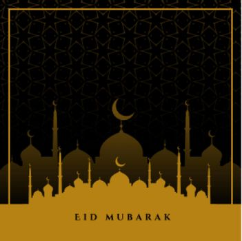 eid mubarak wishes greeting in flat colors