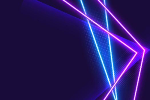 abstract geometric blue and purple neon background
