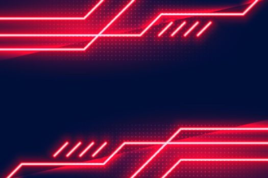 geometric glowing red neon lights background design
