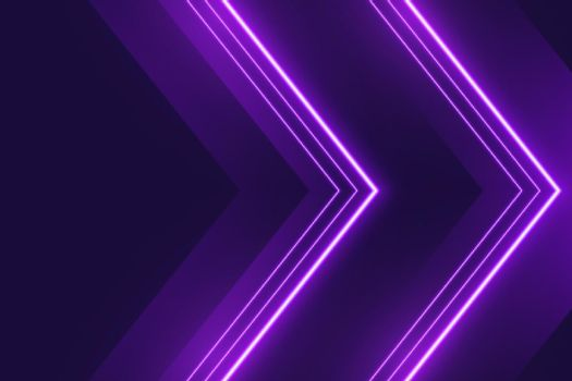 neon purple lights background in arrow style