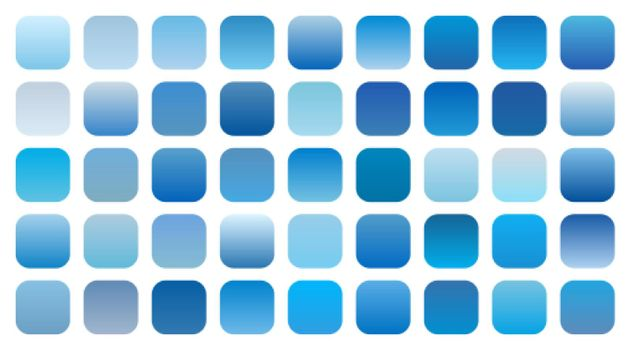 set of blue sky gradient shades combinations