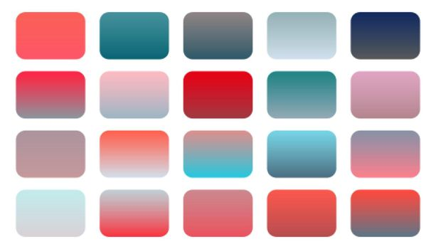 set of red and pink gradient shades combination