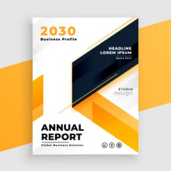 yellow business flyer annual report template design