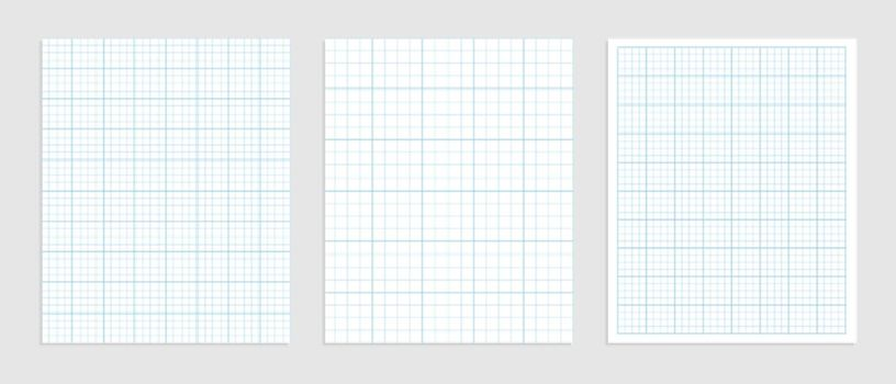 Mathematical graph paper set for data representation