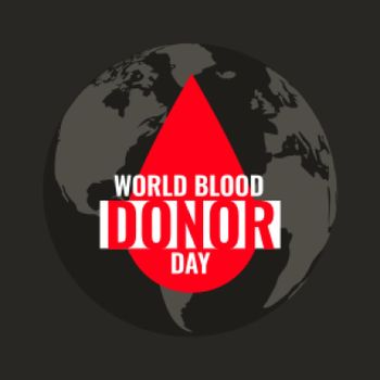 blood drop background for world blood donor day