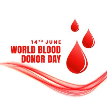 14th june world blood donor day concept poster