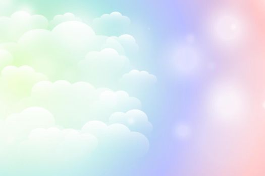 dreamy magical shiny clouds background in vibrant colors