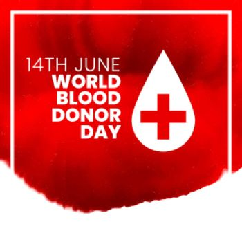 14th june world international blood donor day poster design