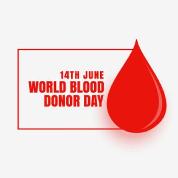 14th june world blood donor day concept poster design