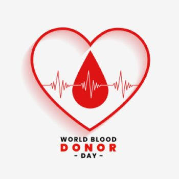 save blood concept for world blood donor day