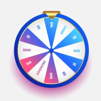 lottery luck wheel of fortune design background