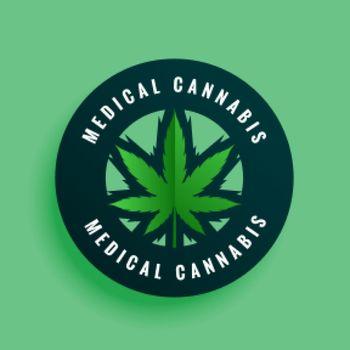 medical cannabis label or sticker design background