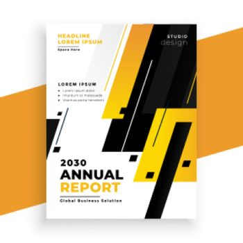 stylish yellow annual report business brochure design template