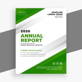 green annual report business brochure template design