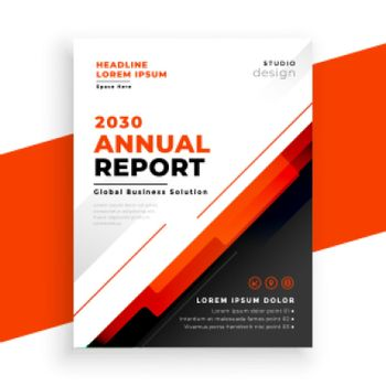 abstract annual report red brochure template design