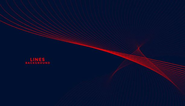 dark particles background with red wavy shapes