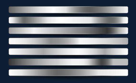 silver chrome platinum aluminium metallic gradients set