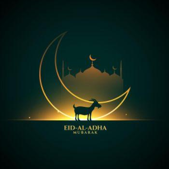 bakrid eid al adha festival greeting background