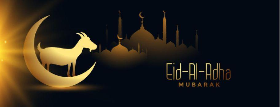 religious eia al adha mubarak celebration banner