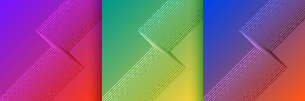 stylish lines shape backgrouns set in vibrant colors
