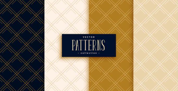 diagonal lines or diamond patterns set in premium colors