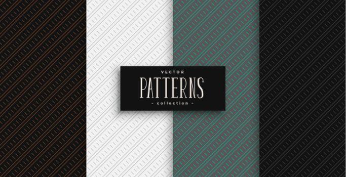 diagonal lines geometric pattern set in professional colors