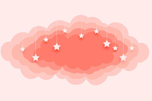 beautiful pastel color clouds and stars background