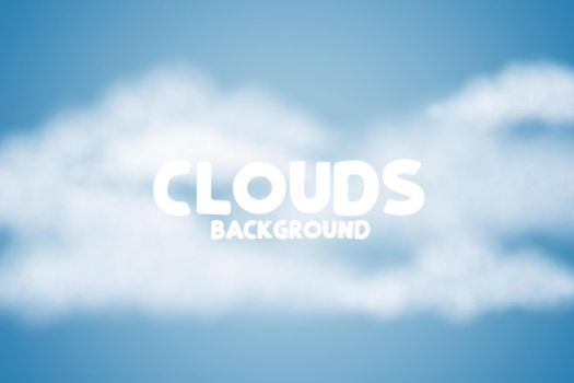 fluffy clouds background on blue skye design