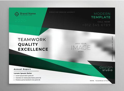 elegant business brochure template in geometric style
